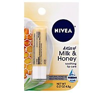 Nivea Lip Care Soothing A Kiss Of Milk & Honey - 0.17 Oz