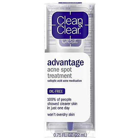 Clean & Clear 100% Oil Free Advantage Acne Spot Treatment - .75 Fl. Oz.