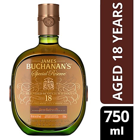 Buchanans Special Reserve 18 Year Blended Scotch Whiskey 80 Proof - 750 Ml