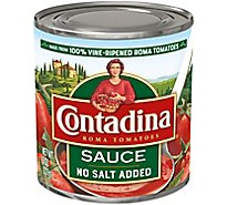 Contadina Tomato Sauce Roma Style No Salt Added - 8 Oz