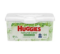 Huggies Natural Care Wipes Fragrance Free Tub Disney Baby - 64 Count