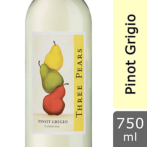 Three Pears Wine Pinot Grigio - 750 Ml