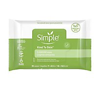 Simple Kind To Skin Cleansing Wipes Facial Wipes - 25 Count