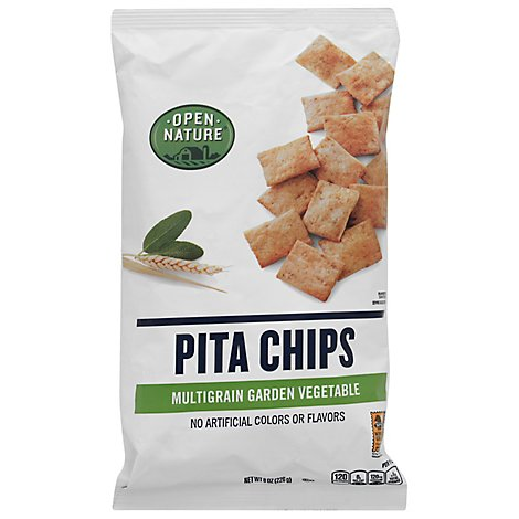 Open Nature Pita Chips Whole Grain With Garden Herbs - 8 Oz