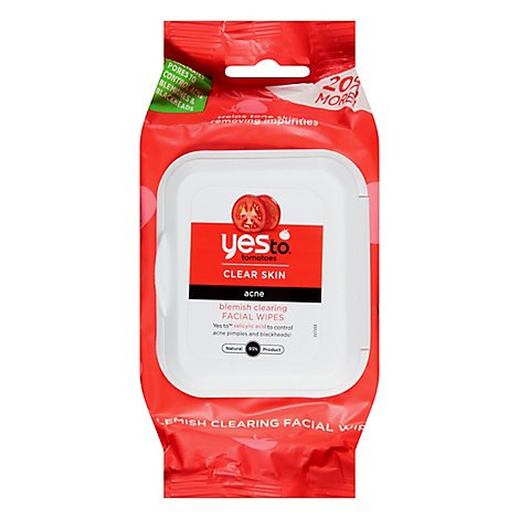 Yes To Tomatoes Blemish Clearing Facial Towlettes - 25 Count