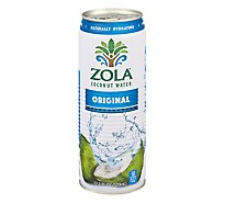 Zola Coconut Water Natural Original - 17.5 Fl. Oz.