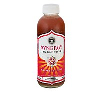 GTs Enlightened Synergy Organic Kombucha Raspberry Chia - 16.2 Fl. Oz.