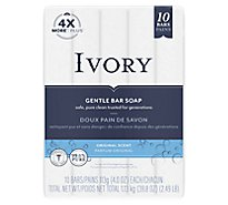 Ivory Bar Soap Pure Clean & Simple Original - 10 - 4 Oz.