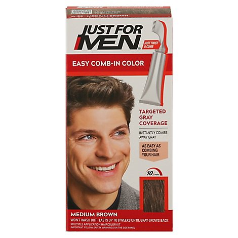 Just For Men AutoStop Haircolor Foolproof Medium Brown A-35 - Each