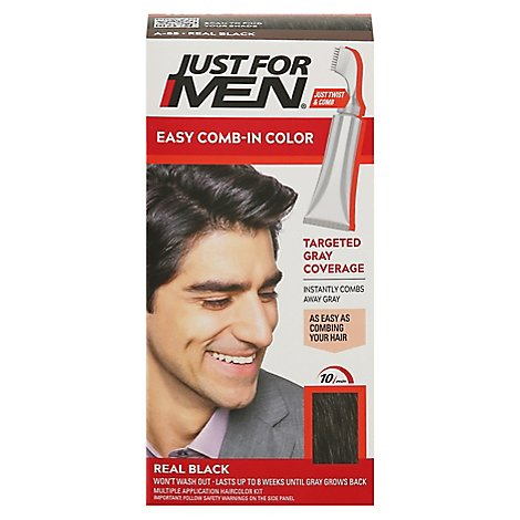 Just For Men AutoStop Haircolor Foolproof Real Black A-55 - Each
