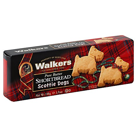 Walkers Shortbread Pure Butter Scottie Dogs - 3.9 Oz