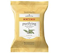 Burts Bees Towelettes Facial Cleansing with White Tea Extract - 30 Count