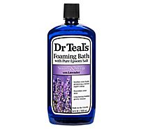 Dr Teals Foaming Bath Epsom Salt Pure Soothe & Sleep With Lavender - 34 Fl. Oz.