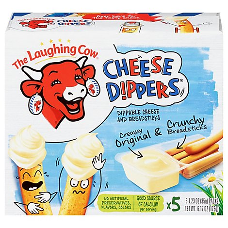 The Laughing Cow Creamy Cheese Dipper & Classic Breadsticks - 5-1.23 Oz.