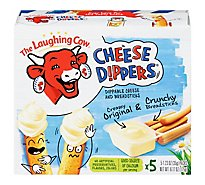 The Laughing Cow Cheese Dippers Creamy Swiss & Classic Breadsticks 5 snack packs