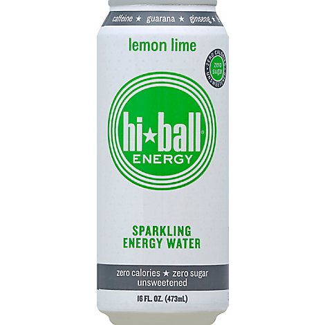 Hiball Energy Energy Water Sparkling Lemon Lime - 16 Fl. Oz.