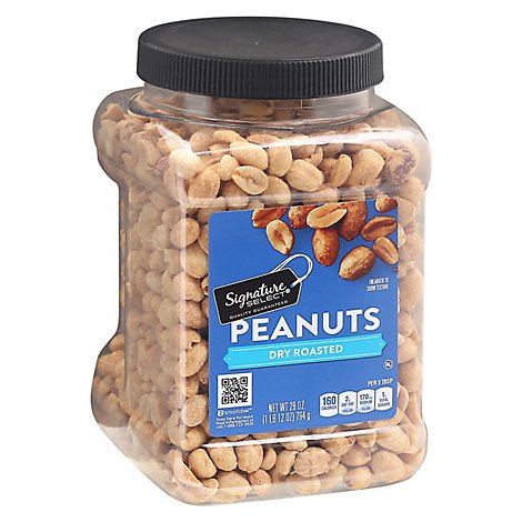 Signature SELECT Peanuts Dry Roasted - 28 Oz