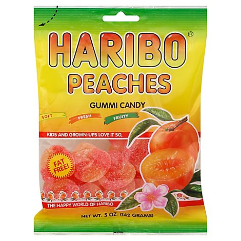 Haribo Gummi Candy Peaches - 5 Oz