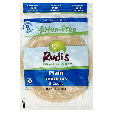 Rudis Gluten-Free Bakery Tortillas Plain - 9 Oz