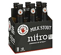 Left Hand Beer Milk Stout Americal Stout Nitro Pour Hard Bottle - 6-12 Fl. Oz.