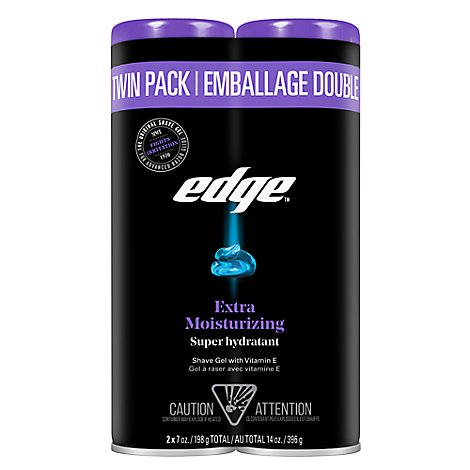 Edge Shave Gel Extra Moisturizing Twin Pack - 14 Oz