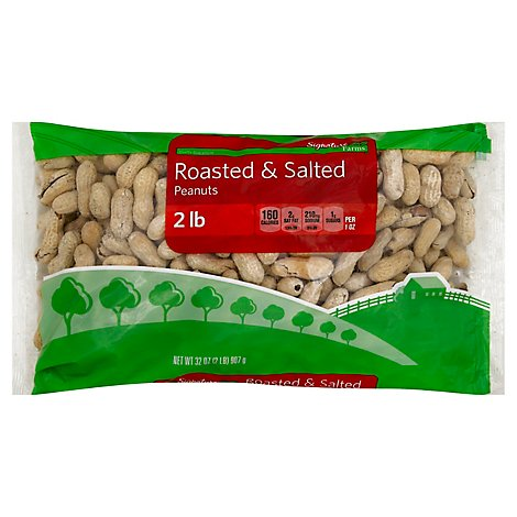 Signature Farms Peanuts Roasted & Salted - 32 Oz