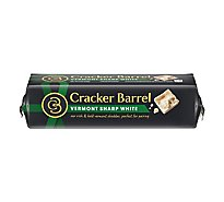 Cracker Barrel Cheese Cheddar Natural Sharp Vermont Sharp-White - 8 Oz