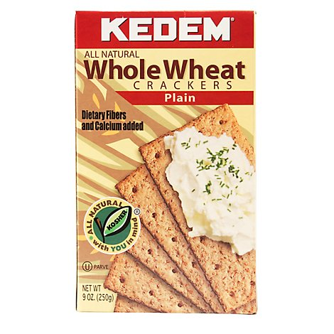 Kedem Crackers Whole Wheat - 9 Oz