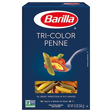 Barilla Pasta Penne Tri-Color No. 772 Box - 12 Oz