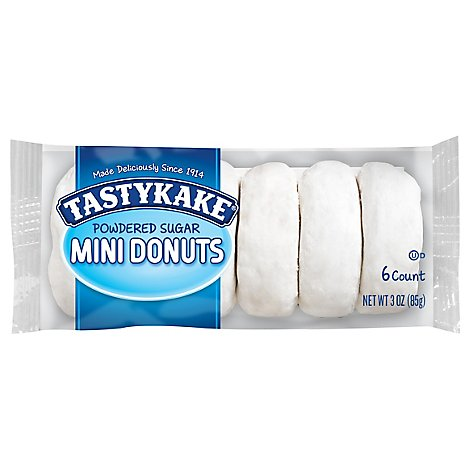 Tastykake Donuts Mini Powdered Sugar Single Serve - 3 Oz