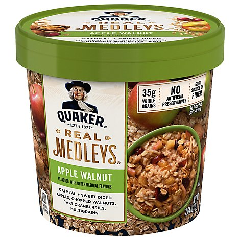 Real Medleys Oatmeal Apple Walnut Flavor - 2.64 Oz