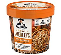 Real Medleys Oatmeal+ Peach Almond - 2.64 Oz