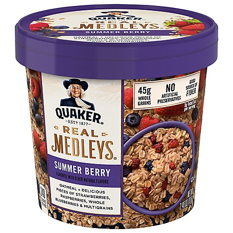 Real Medleys Oatmeal+ Summer Berry - 2.46 Oz