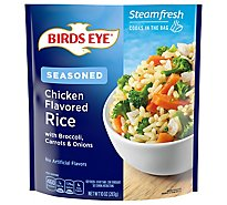 Birds Eye Steamfresh Chefs Favorites Chicken Flavored Rice With Broccoli Carrots & Onions - 10 Oz