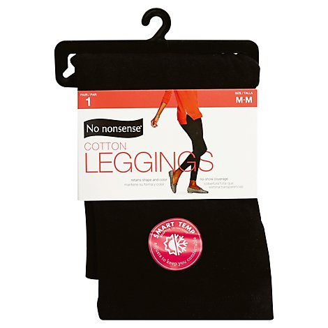 No nonsense Leggings Cotton Black Medium - Each