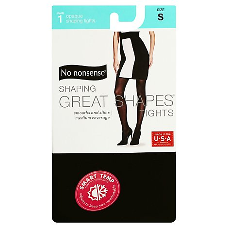 No Nonsense Great Shape Opaque Tghts Black Small - 1 Pair