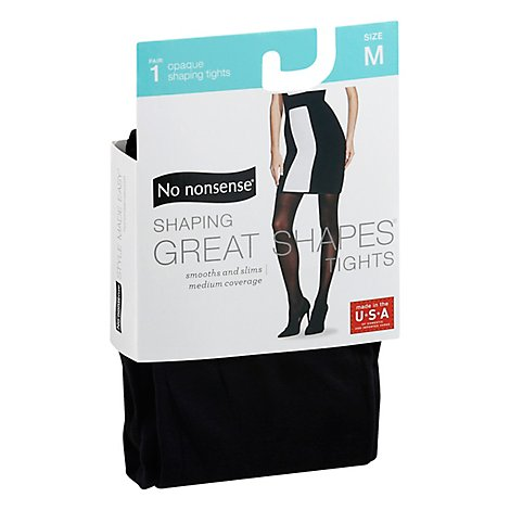 No Nonsense Great Shape Opaque Tghts Black Medium - 1 Pair