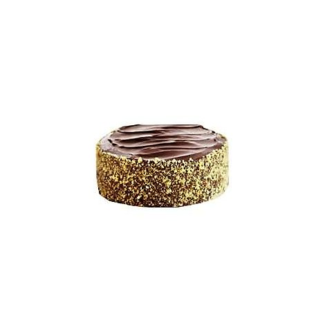 Bakery Cake Yellow 8 Inch 2 Layer Chocolate Ice - Each