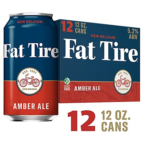 New Belgium Fat Tire Amber Ale Cans - 12-12 Fl. Oz.