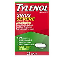 TYLENOL Pain Reliever/Fever Reducer Caplets Sinus Congestion & Severe Pain Daytime - 24 Count