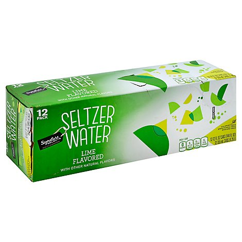 Signature SELECT Seltzer Water Lime - 12-12 Fl. Oz.