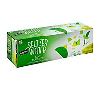 Signature SELECT Water Seltzer Lime Flavored - 12-12 Fl. Oz.