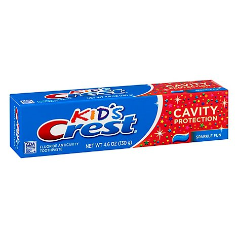 Crest Kids Toothpaste Cavity Protection Sparkle Fun Flavor - 4.6 Oz.
