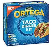 Ortega Taco Shells Dinner Kit With Seasonings & Sauce Box 12 Count - 10 Oz