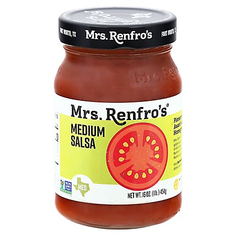Mrs. Renfros Gourmet Salsa Medium Jar - 16 Oz