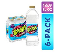 Nestle Splash Water Beverage Natural Wild Berry Flavor - 6-16.9 Fl. Oz.
