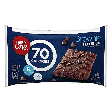 Fiber One Brownies 90 Calories Chocolate Fudge - 0.89 Oz