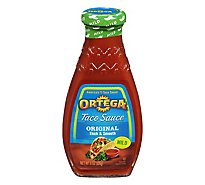 Ortega Taco Sauce Thick & Smooth Original Mild Bottle - 8 Oz