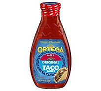 Ortega Taco Sauce Thick & Smooth Original Hot Bottle - 8 Oz