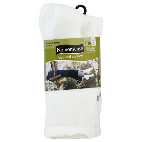 No Nonsence Bus Cas Crew Cushion Sock - 3 Pair